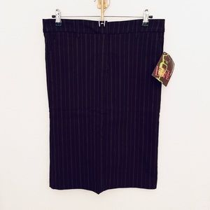 NEW Lucy Love Pinstripe Pencil Skirt with Pockets